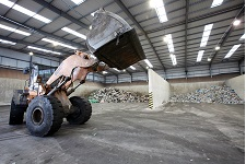 Inside a Waste Transfer Station. Photo courtesy of GMWDS/Recycle for Greater Manchester