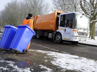 Winter bin collections