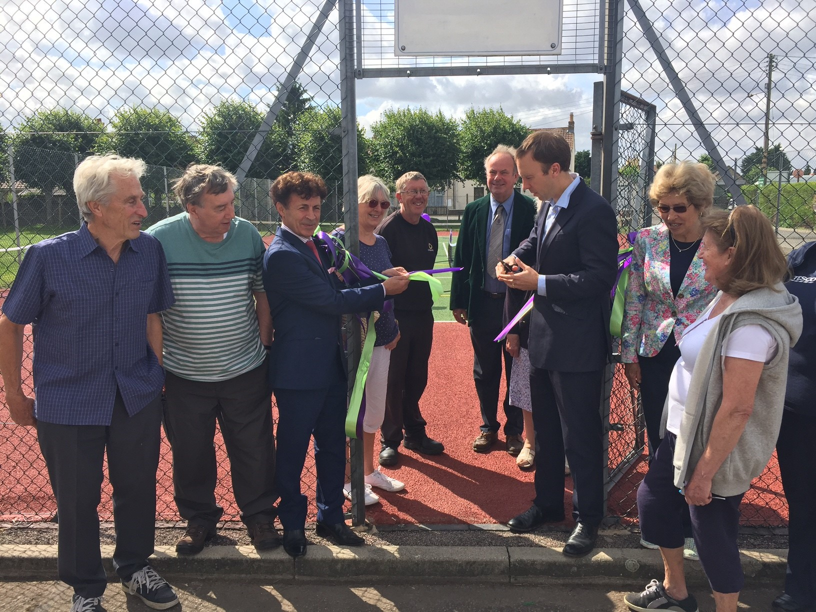 Game, Set and Match for opening of refurbished Brandon Community Tennis Court