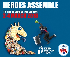 Great British Spring Clean 2-4 March 2018 - contact us to borrow litter picking... equipment