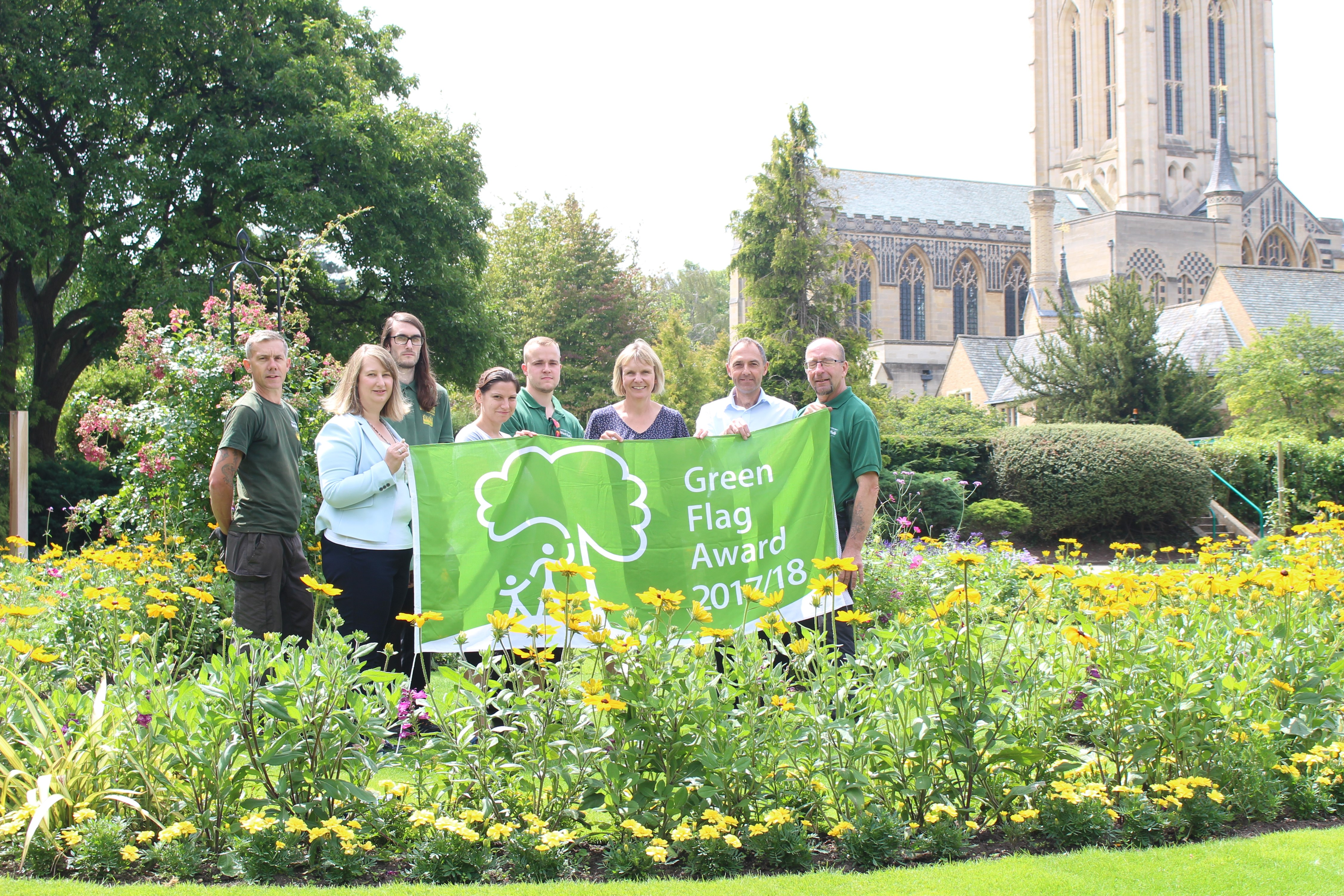 Four green flags to fly over borough's green spaces
