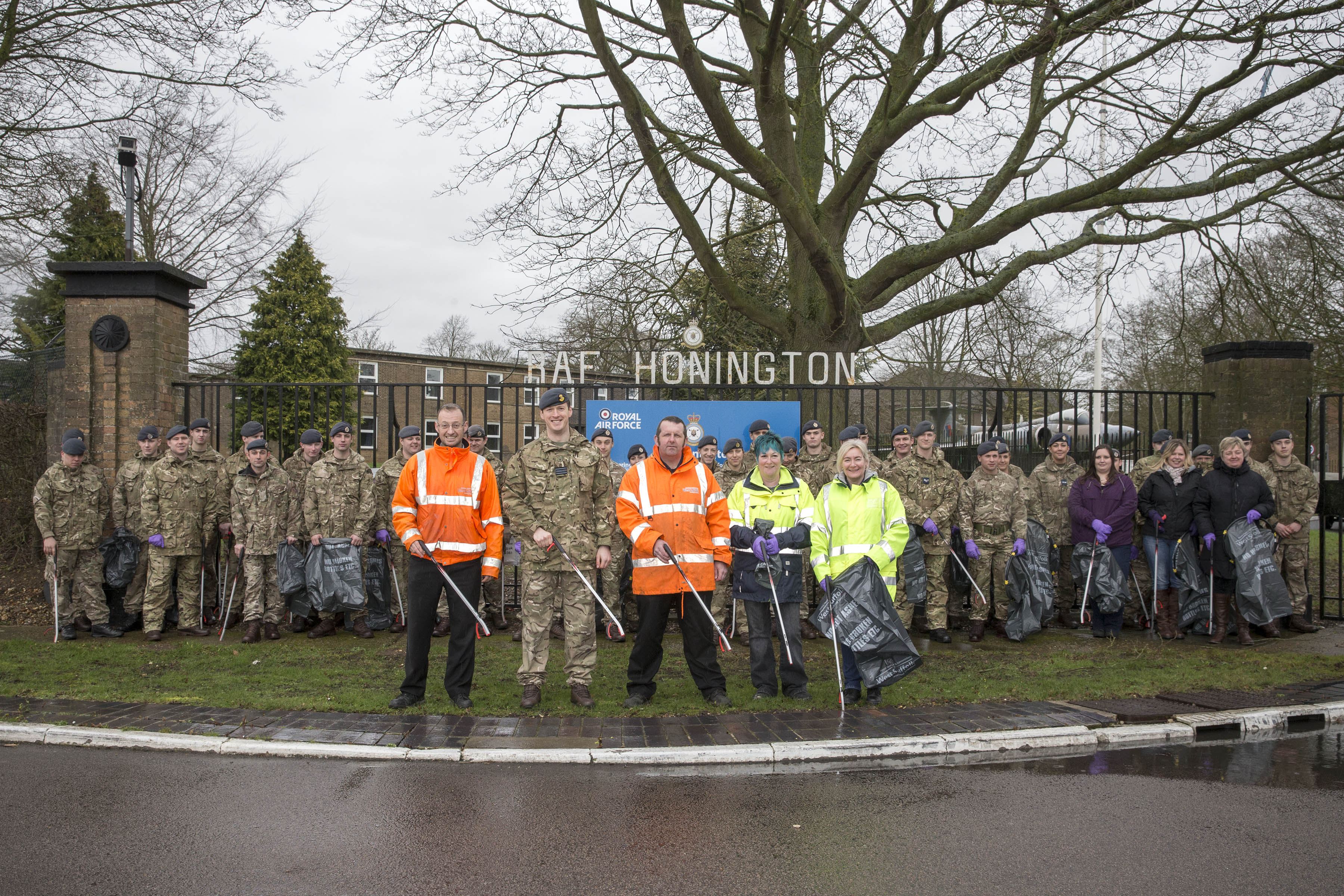 RAF Honington springs into action to support the Great British Spring Clean