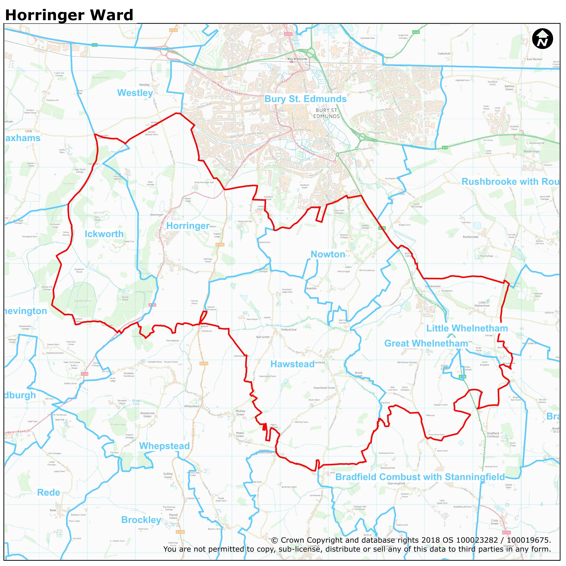 Mildenhall England Map.Ward Maps