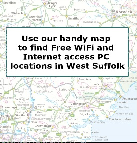 Free WiFi and Internet access PC locations map