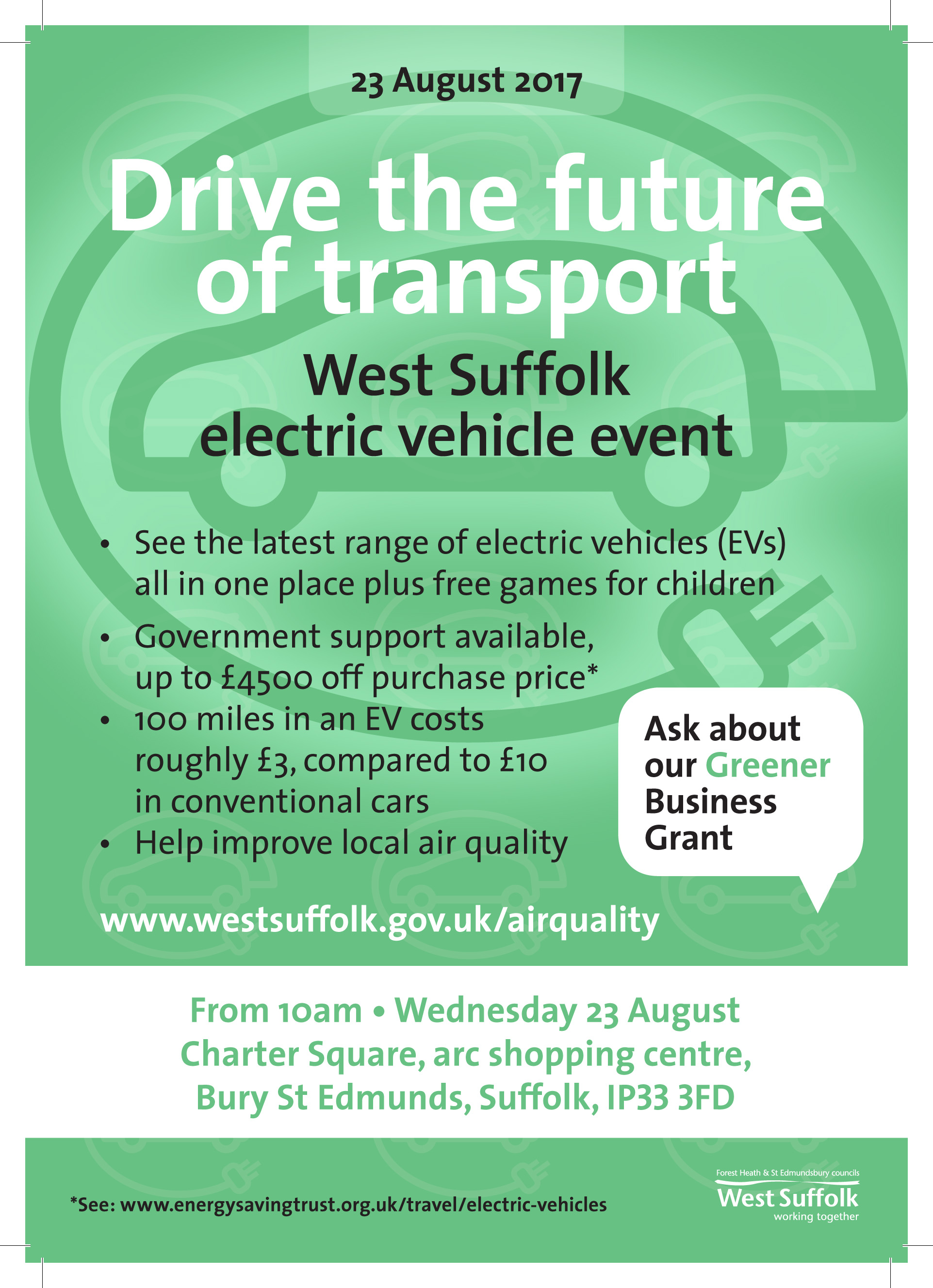 flyer for electric vehicle event 2017