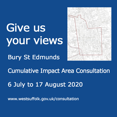 Consultation on renewal of Bury St Edmunds alcohol licensing policy