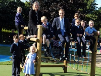 Councillor helps open new play area at school