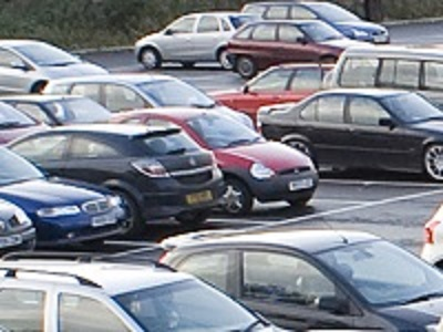 A car park in  West Suffolk