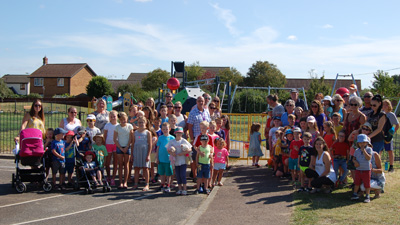 "Smiles from Sloane as ""fantastic"" new £60k play area opens"