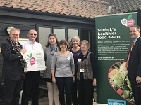 100th Eat Out, Eat Well Award Presented in Suffolk