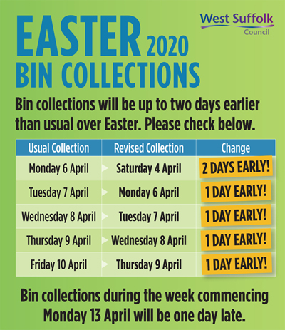 Check your Easter bin collection days