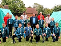 Cllr John Burns has given locality grant funding to a scout group in Haverhill
