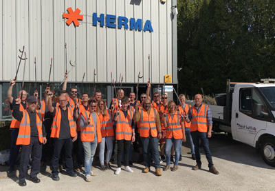 HERMA UK takes direct action