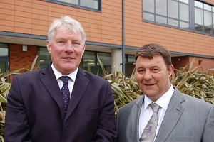 Council leaders John Griffiths and James Waters