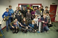 Cllr Warwick Hirst and the Brandon Music Arts Project