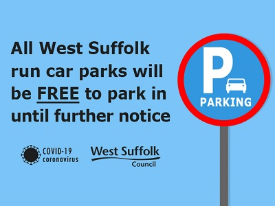 West Suffolk suspends parking charges