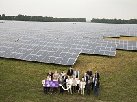 Solar farm launch