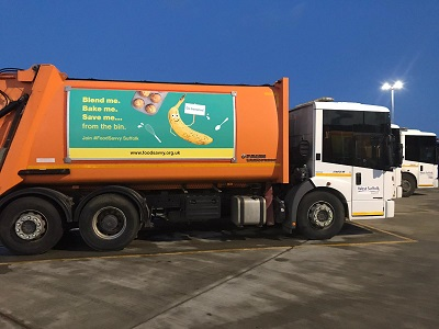 New vehicle banners encourage Suffolk to be food and freezer savvy