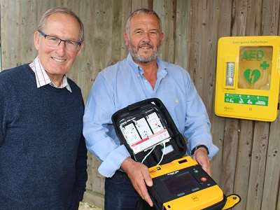 Crowdfunder success sees community defibrillator for village