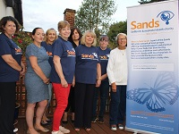 Cllr Patsy Warby with members of the West Suffolk SANDS group