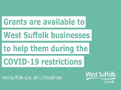 Grants available to West Suffolk businesses - January 2021